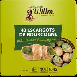 Escargots belle grosseur bourguignonne WILLM, 48 unités, 355g