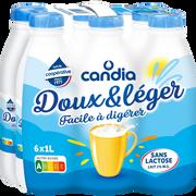 Candia Lait Uht Doux Et Léger Sans Lactose Cadnia, 6x1l