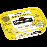 Connetable Sardine Sans Arêtes À L'huile D'olive Citron, Connetable, Boîte De 1/5, 140g