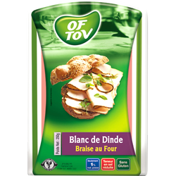 Blanc de dinde braise au four casher OF TOV, 250g