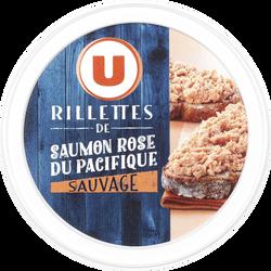 Rillettes de saumon rose du Pacifique U, bol en métal de 125g