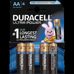 Piles LR06-AA DURACELL Ultra power, pack de 4