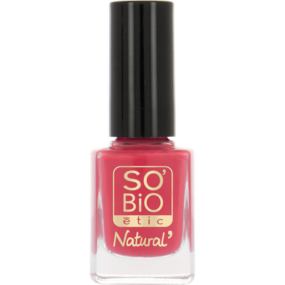 Vernis à ongles corail  n°4 SO'BIO, nu, 10ml