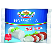 Casa Azzurra Mozzarella Maxi Format Cylindre Pasteurisé Casa Azzura, 18% De Mg, 250g
