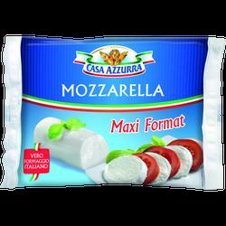 Mozzarella maxi format cylindre pasteurisé CASA AZZURA, 18% de MG, 250g
