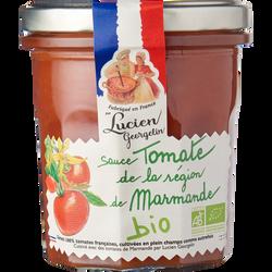 Sauce tomate de la region marmande BIO LUCIEN GEORGELIN, pot en verrede 300g