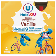 Lou Crème Dessert Saveur Vanille U Mat Et , Gourdes 4x85g, 340g