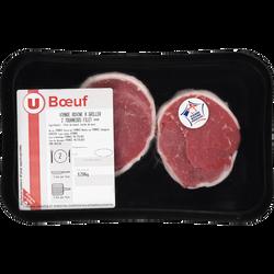 Viande bovine - Tournedos filet Genisse, U, Nouvelle agriculture, France, 2 pièces