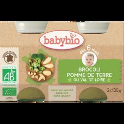 Pot brocoli Pomme de terre du Val de Loire BABYBIO, dès 6 mois, 2x130g soit 260g