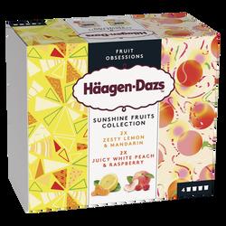 HAAGEN DAZS Minipot White Peach Raspberry + Lemon Mandarin 324g