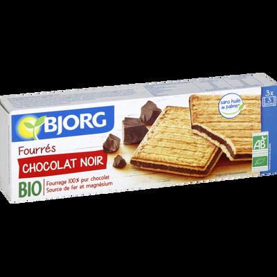 Goûters fourrés au chocolat noir bio BJORG, 225g