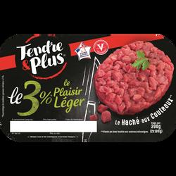 """Steack haché au couteau """"L'Exquis de Boeuf"""", TENDRE ET PLUS, France, 2pièces, 200g"""