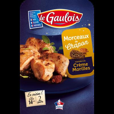 Morceaux de chapon marinés crème/morille, LE GAULOIS, barquette 250g