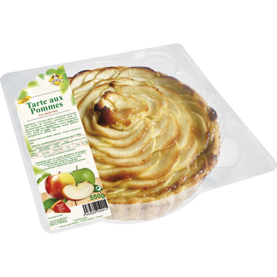 Tarte aux pommes, diamètre 20cm, TARTEFRAIS, 1 pièce, 550g