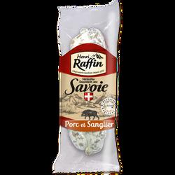 Saucisson sec de porc et sanglier, HENRI RAFFIN, 200g