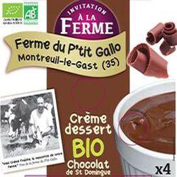 crème dessert choc. bio, La ferme d'Ana Soiz, 4*100gr