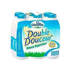Lait demi-écréme stérilisé UHT Double Douceur CANDIA, 6x1l