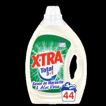 X•TRA Lessive Liquide Marseille Aloe Vera Total X-tra , 2,2l Soit 44 Lavages