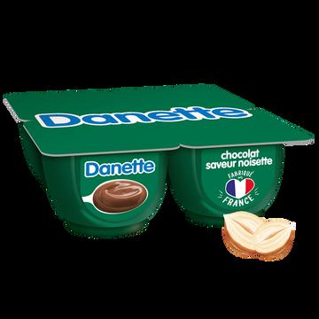 Danone Cème Dessert Chocolat Saveur Noisette Danette, 4x125g