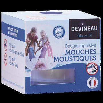Devineau Verre Transparent Rempli Bougie Anti-moustiques/anti-mouches