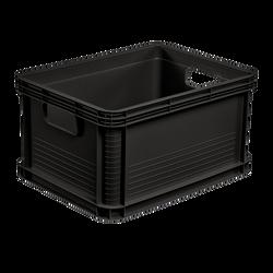 Boite de transport 20l 40x30x22cm noir-capacité de chargement:30kg