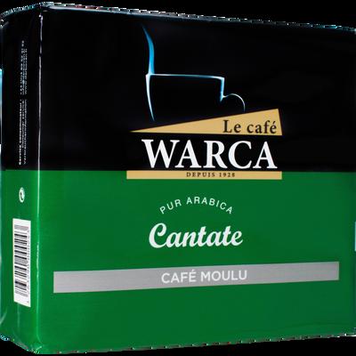 Café moulu 100% arabica Cantate CAFES WARCA, 2 paquets de 250g