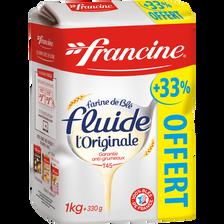 Francine Farine Fluide , Paquet De 1kg + 330g Offert