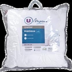 OREILLER MOELLEUX MICROGEL 65X65 CM U MAISON