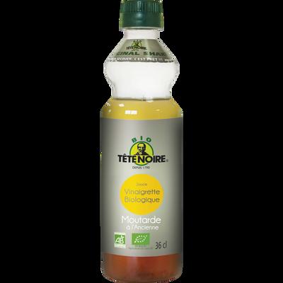 Sauce vinaigrette à la moutarde à l'ancienne bio TETE NOIRE, bouteillede 36cl