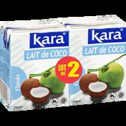Kara Lait De Noix Coco Kara, 2x200ml