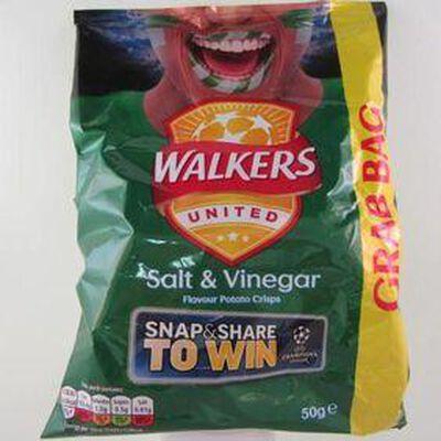 Chips sel vinaigre WALKERS,50g