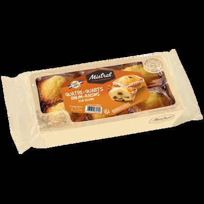 Quatre-quart rhum raisin pur beurre MISTRAL, 210g
