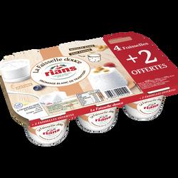 Fromage frais lait pasteurisé faisselle douce RIANS x4+2 offert