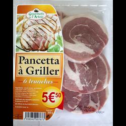 Pancetta à griller GOURMETS DE L'ARTOIS, 6 tranches soit 360g