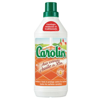 Carolin Nettoyant Toutes Surfaces Carrelées Huile De Lin Carolin, 1l