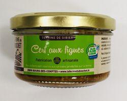 Terrine de gibier cerf aux figues, LA FERME DU BOSCHET, bocal 130g