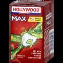Hollywood Chewing-gum , Max Splash Fraise Citron Vert Sans Sucre Lot De3, 66g