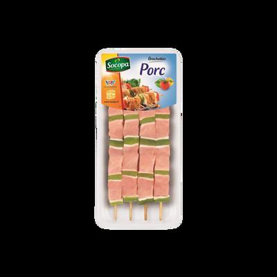 Brochettes de porc, SOCOPA, 4 pièces