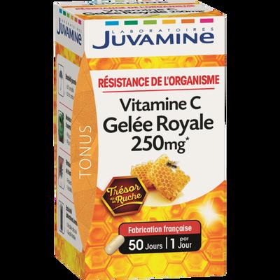 Tonus résistance de l'organisme Vitamine C, geléé royale JUVAMINE, 50 gélules