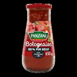 Sauce bolognaise 100% pur boeuf Français PANZANI pot 650g