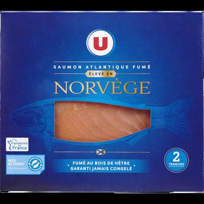 Saumon Atlantique fumé Norvège U, 2 tranches, 80g