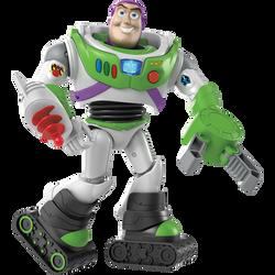 Buzz l'éclair super armure 17cm-figurine articultée sonore et lumineuse équipée de jet pack,pince,pistolet,bottesantigravité,casque avec visière-prononce ses phrases cultes