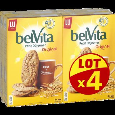 Biscuits brut de céréales BELVITA, 4 paquets de 400g