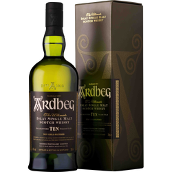Scotch whisky single islay malt 10 ans ARDBEG, 46°, 70cl sous étui