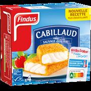 Findus Panés De Cabillaud Findus, X4 Soit 204g