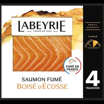 Labeyrie Saumon Fumé Écosse Atlantique Labeyrie, X4 Soit 140g