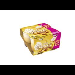 Dessert lacté goût vanille sur lit de caramel VIENNOIS, 4x100g Offre économique