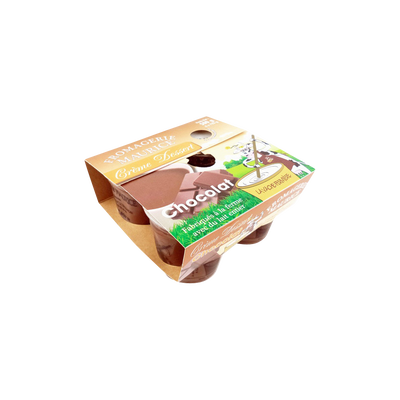 Crème chocolat FROMAGERIE MAURICE, pack de 125g