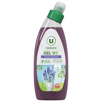 Gel wc parfum lavande U NATURE, 750ml
