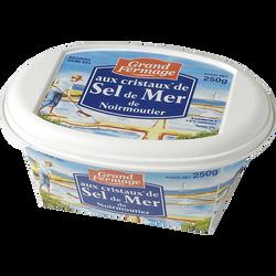 Beurre aux cristaux de sel de Noirmoutier 80%mg, GRAND FERMAGE, barquette 250g